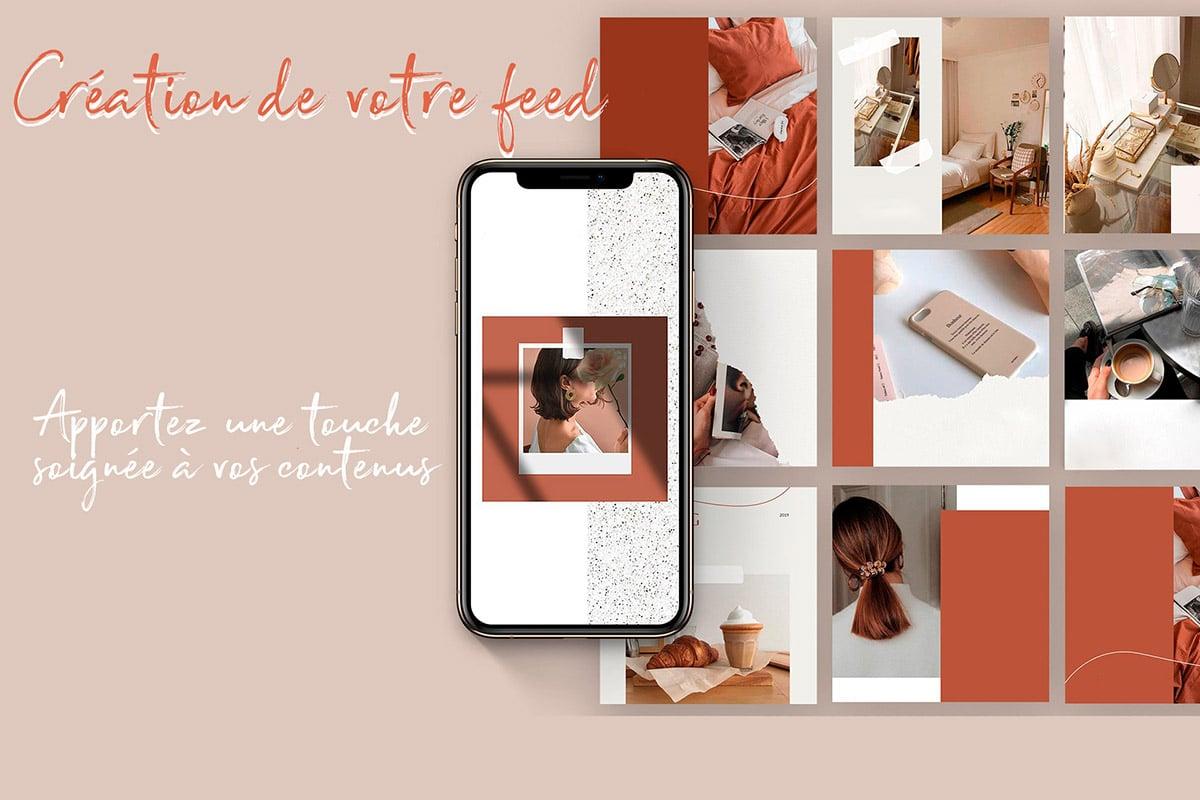 illustration de la création d'une ligne éditoriale pour les réseaux sociaux, création par Sigrid Sohm community mananager et influenceuse à la French Focale.